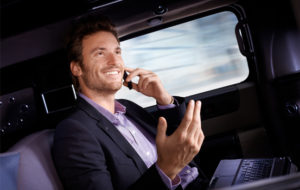 Man using luxury car service in DC